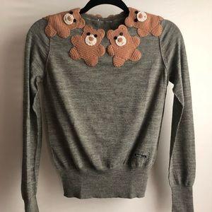 Moschino knit teddy bear holiday Wool Sweater